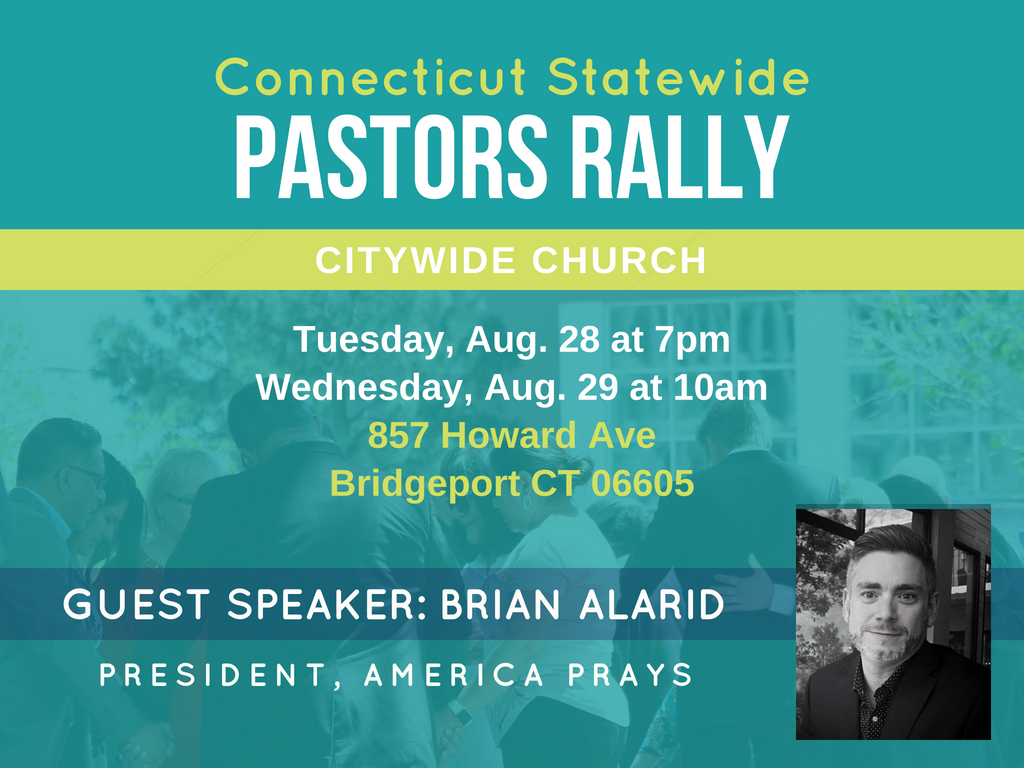 ct prays August 28-29 rally poster