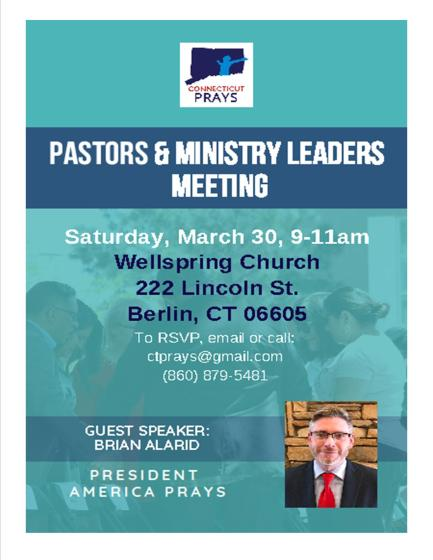 MARCH 30 PASTORS RALLY
